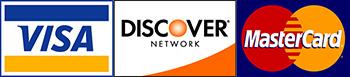 Visa Discovery Mastercard Logos